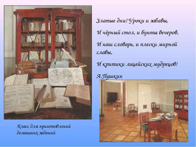Златые дни! Уроки и забавы, И чёрный стол, и бунты вечеров, И наш словарь, и...
