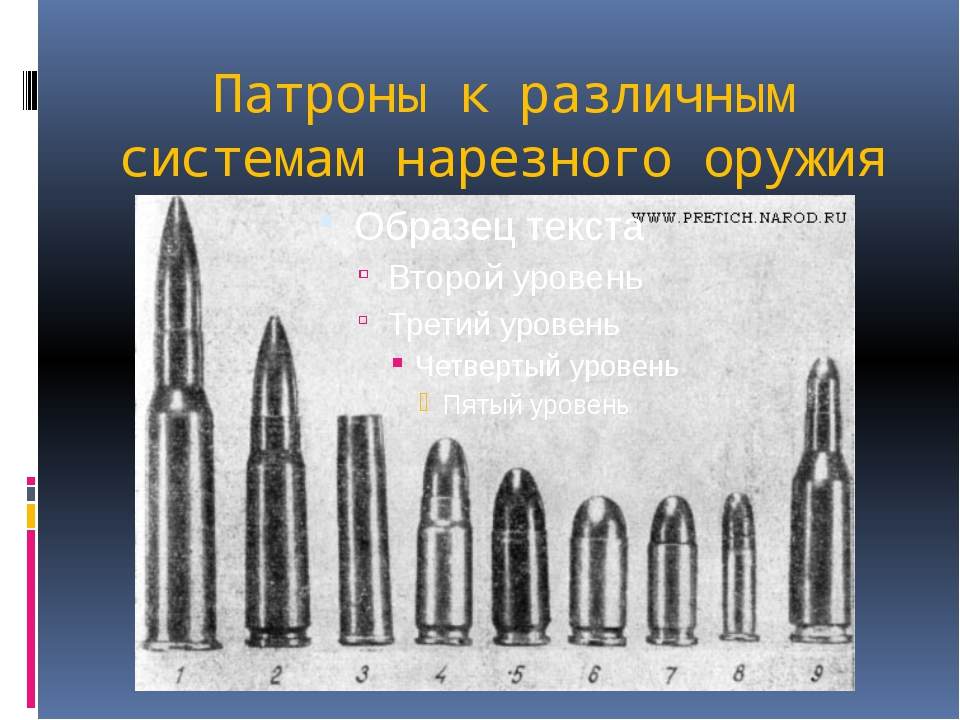 Патроны к различным системам нарезного оружия
