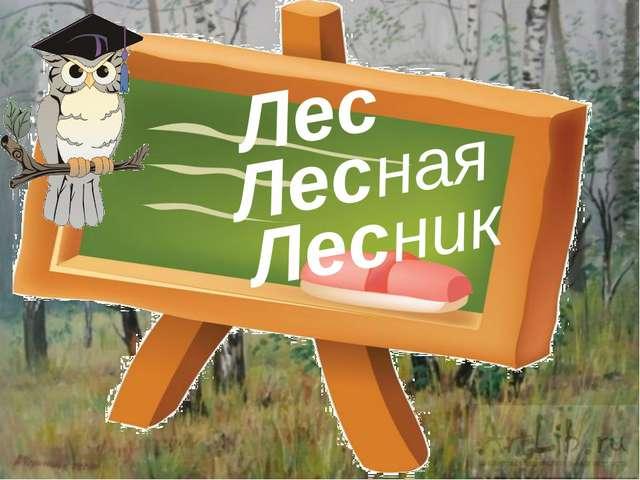 Лес Лесная Лесник