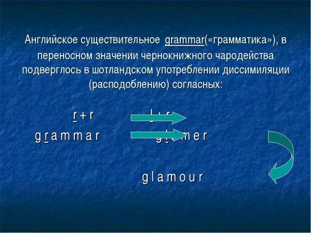 r + r l + r g r a m m a r g l a m e r g l a m o u r Английское существительн...