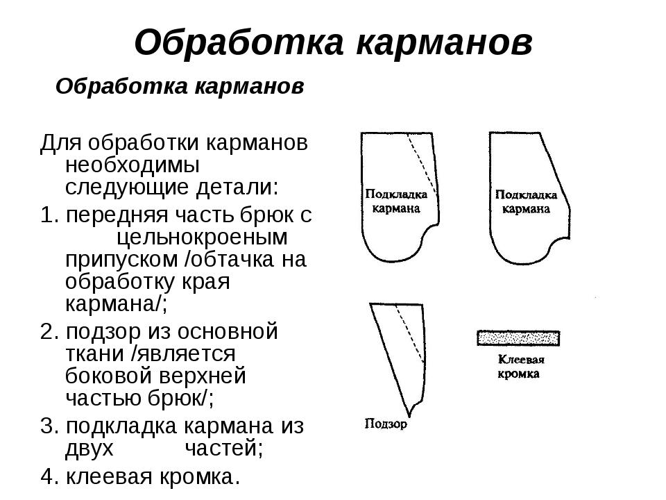 Обработка карманов Обработка карманов Для обработки карманов необходимы след...
