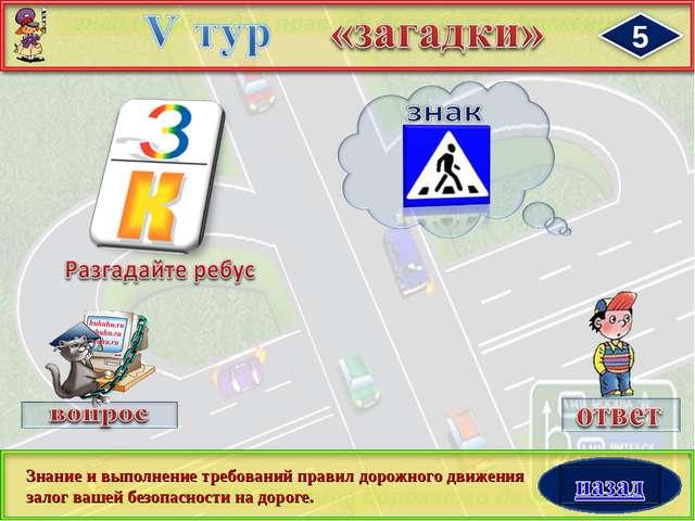 Знание и выполнение требований правил дорожного движения залог вашей безопасн...