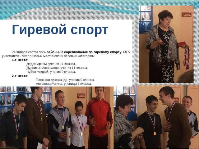 Гиревой спорт 24 января состоялисьрайонные соревнования по гиревому спорту....