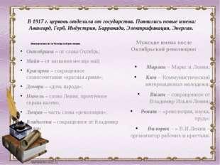 Женские имена после Октябрьской революции: Октябрина – от слова Октябрь; Майя