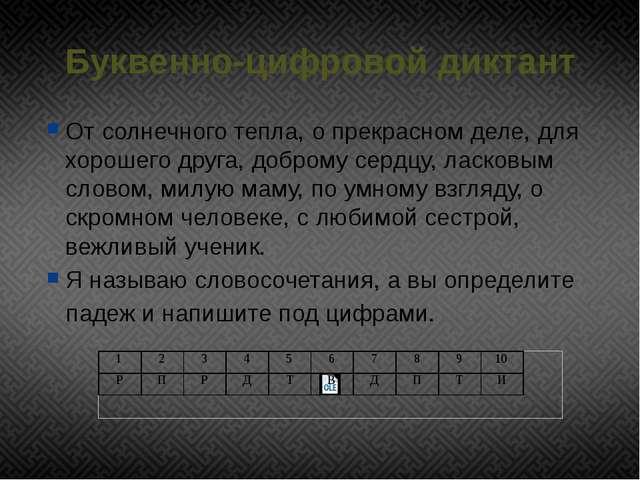 Буквенно-цифровой диктант От солнечного тепла, о прекрасном деле, для хорошег...