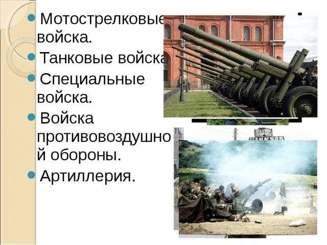 Мотострелковые войска. Танковые войска. Специальные войска. Войска противовоз...