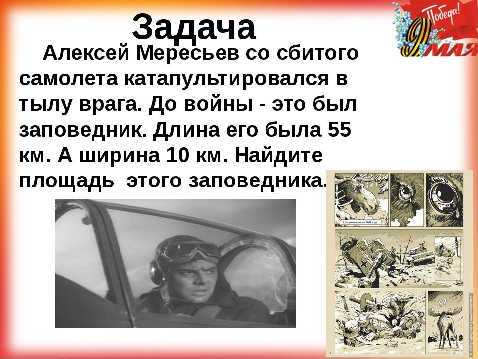 Задача Алексей Мересьев со сбитого самолета катапультировался в тылу врага....