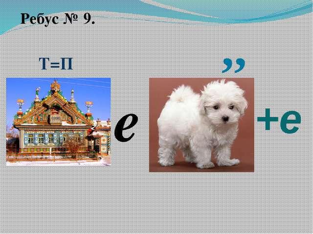 Ребус № 9. Т=П ,, е +е