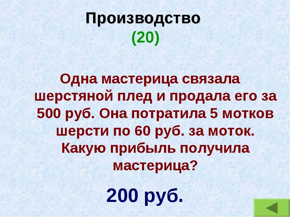 Производство (20) Одна мастерица связала шерстяной плед и продала его за 500...