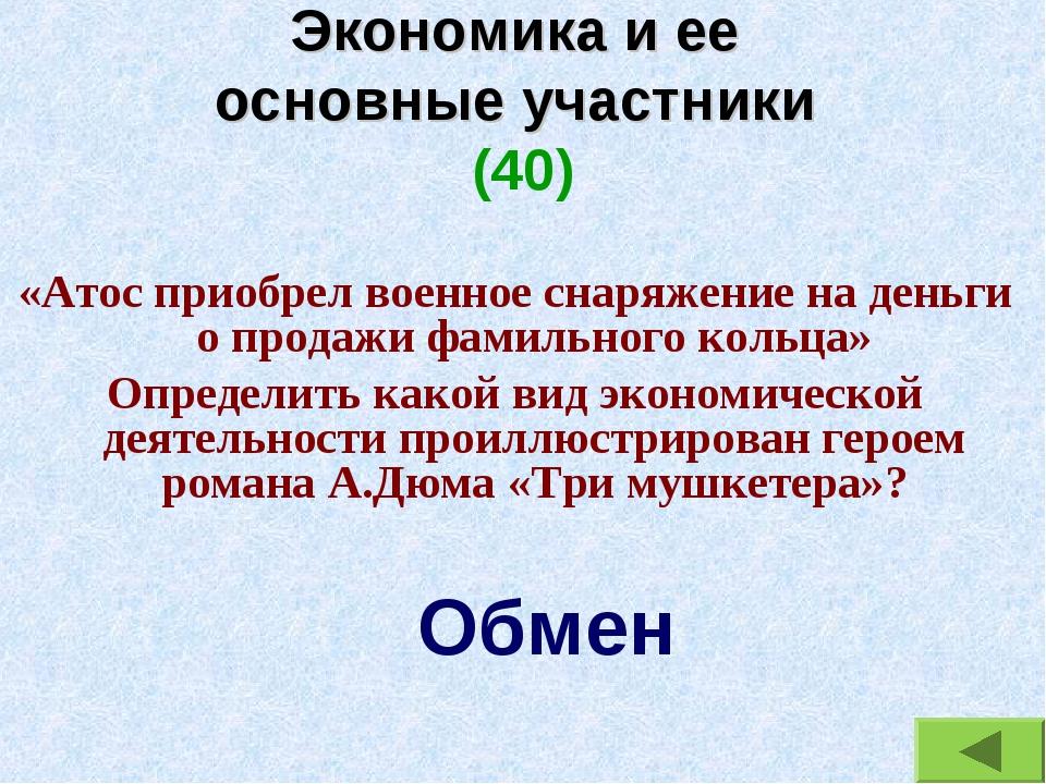 Экономика и ее основные участники (40) «Атос приобрел военное снаряжение на д...