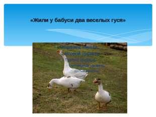 «Жили у бабуси два веселых гуся»
