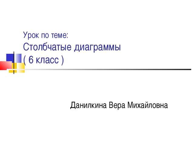 Урок по теме: Столбчатые диаграммы ( 6 класс ) Данилкина Вера Михайловна