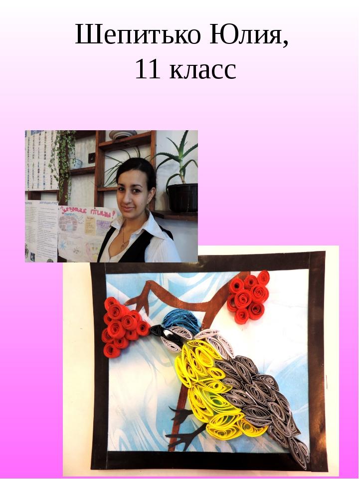 Шепитько Юлия, 11 класс