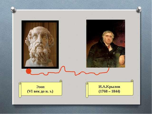 И.А.Крылов (1768 – 1844) Эзоп (VI век до н. э.)