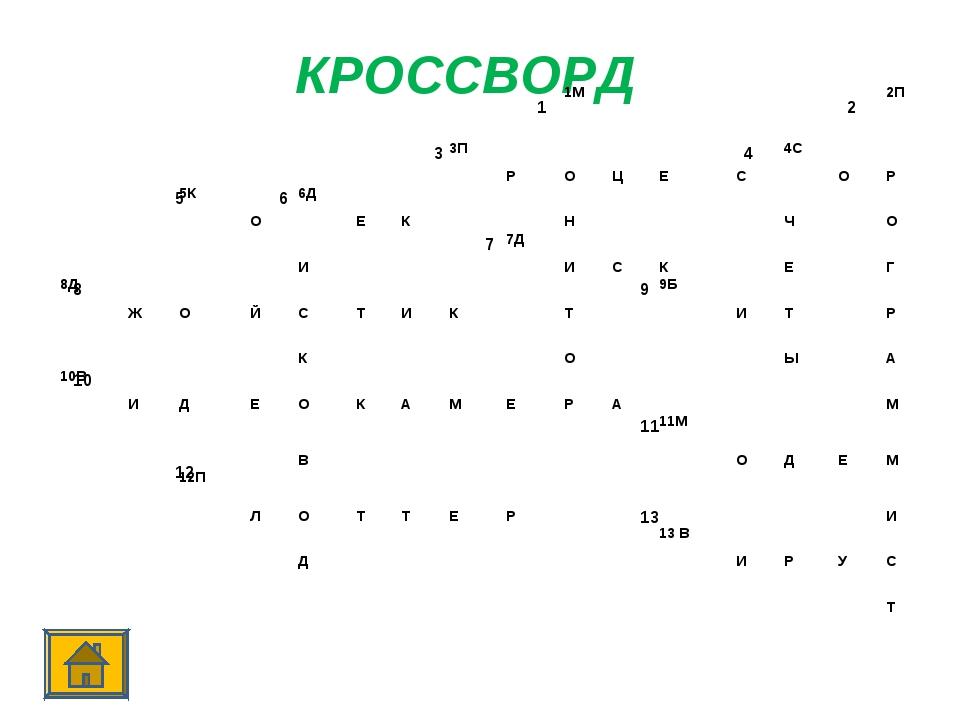КРОССВОРД 12 34 56 7...