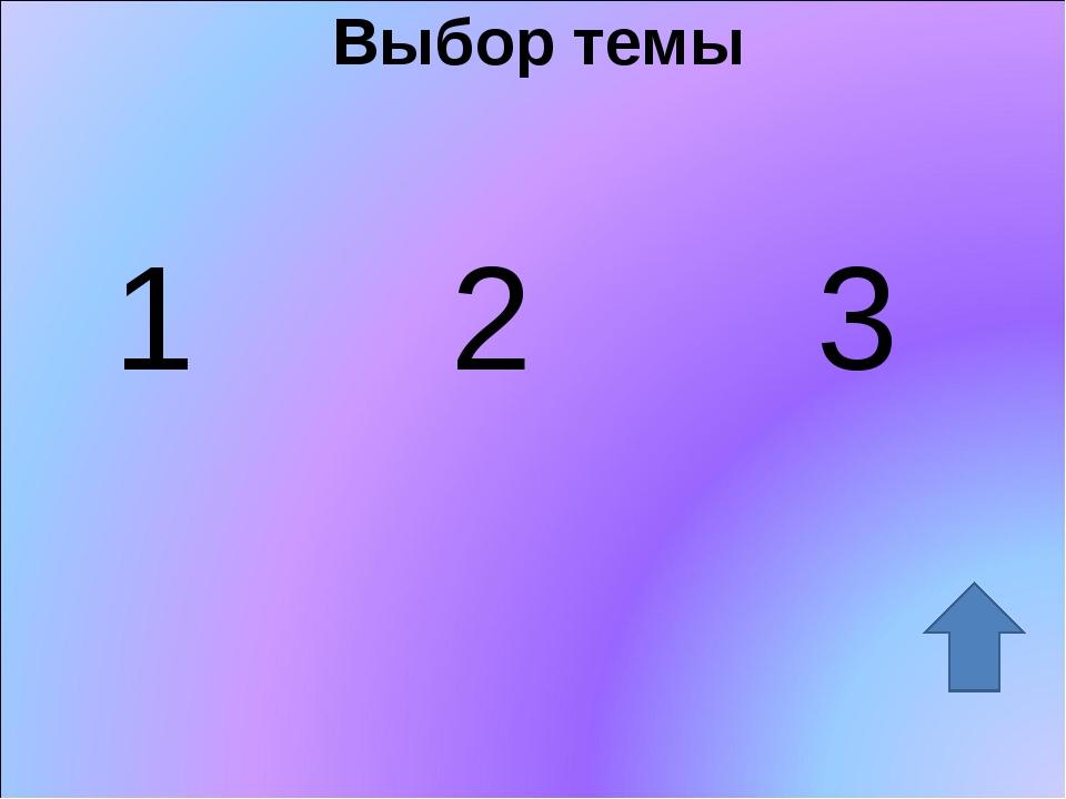 Выбор темы 1 2 3