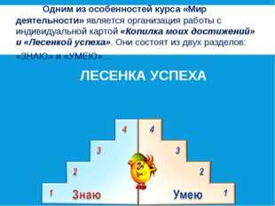 Одним из особенностей курса «Мир деятельности» является организация работы