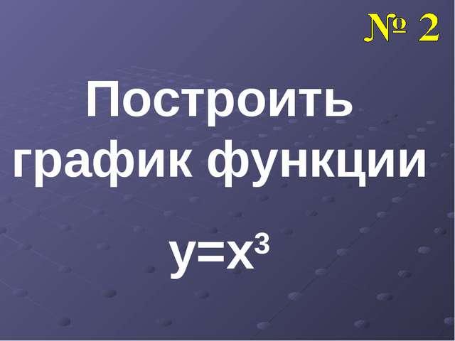 Построить график функции y=x3
