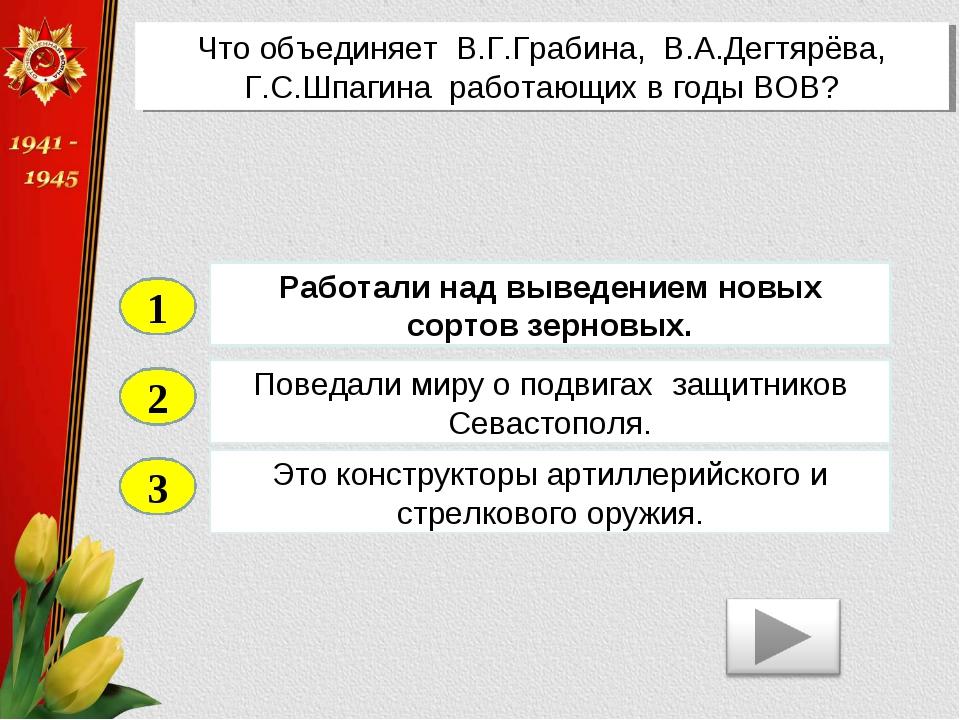 2 3 Поведали миру о подвигах защитников Севастополя. Это конструкторы артилле...