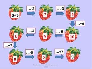 6+3 …-2 …-3 10 7 4 …+6 …-5 5 …-4 1 …+7 8 …-6 2 …+7 9 Горбунова Н.И. МОУ Остро