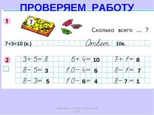 Горбунова Н.И. МОУ Остроленская СОШ 7+3=10 (к.) 10к. 3 5 10 6 6 4 8 7 7 1 ПРО