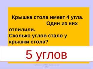 Горбунова Н.И. МОУ Остроленская СОШ Крышка стола имеет 4 угла. Один из них от