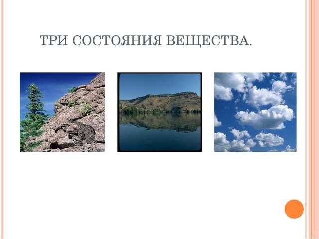 ТРИ СОСТОЯНИЯ ВЕЩЕСТВА.