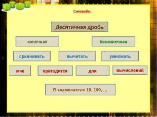Синквейн: бесконечная вычислений вычитать конечная умножать сравнивать для пр