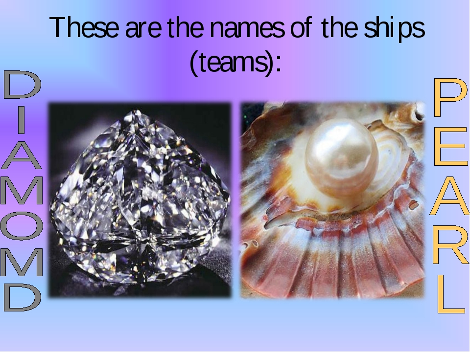 These are the names of the ships (teams):