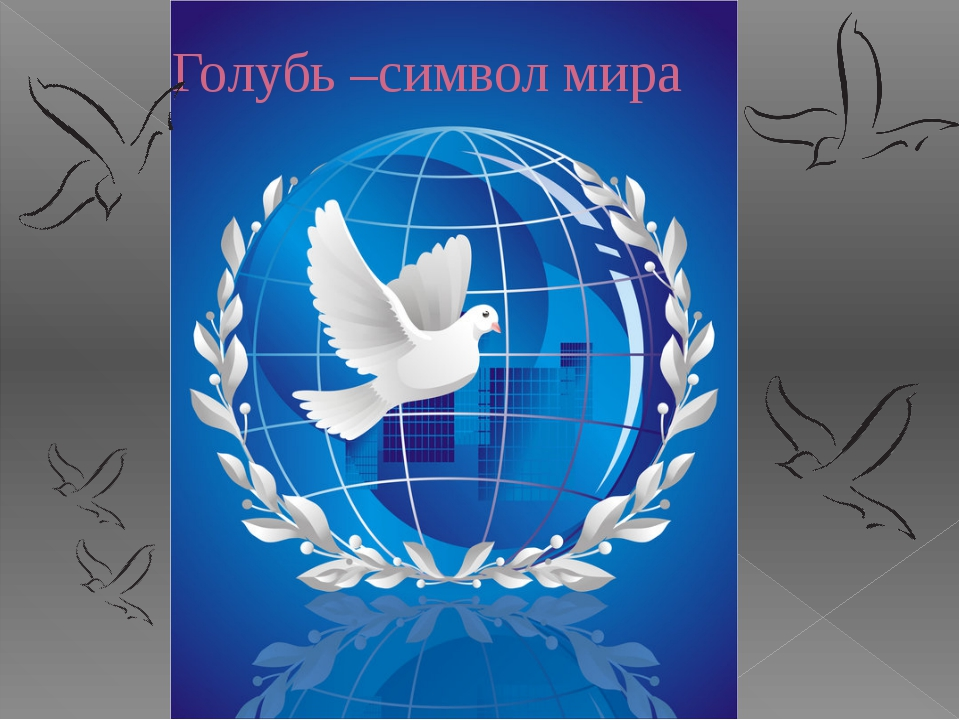 Голубь –символ мира