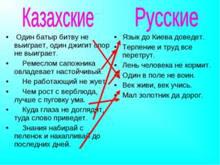 Язык до Киева доведет. Терпение и труд все перетрут. Лень человека не кормит.