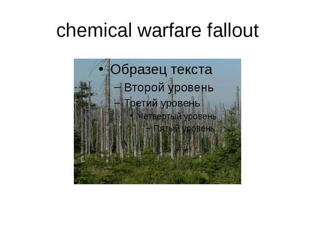 chemical warfare fallout