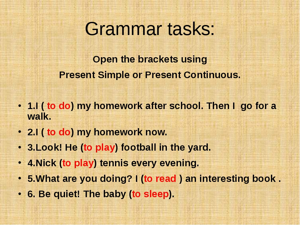 Open the brackets using Present Simple or Present Continuous. 1.I ( to do) m...