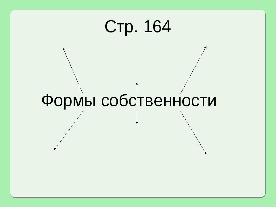 Формы собственности Стр. 164