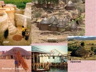 ЮАР Камерун Жилища в Сахаре Бенин Эфиопия.