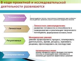 Менеджерские умения: умение проектировать процесс, планировать деятельность,