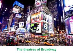 The theatres of Broadway