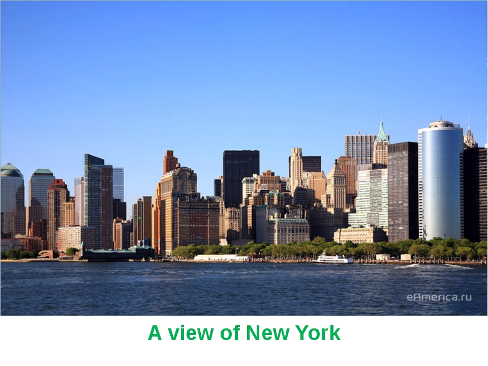 A view of New York