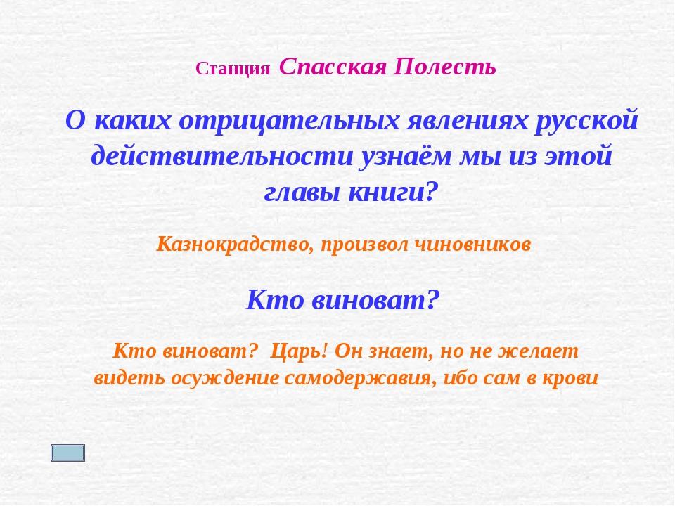 Станция Спасская Полесть О каких отрицательных явлениях русской действительно...