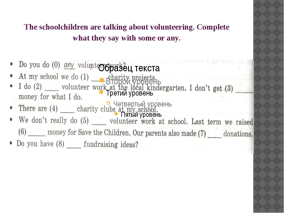 The schoolchildren are talking about volunteering. Complete what they say wit...