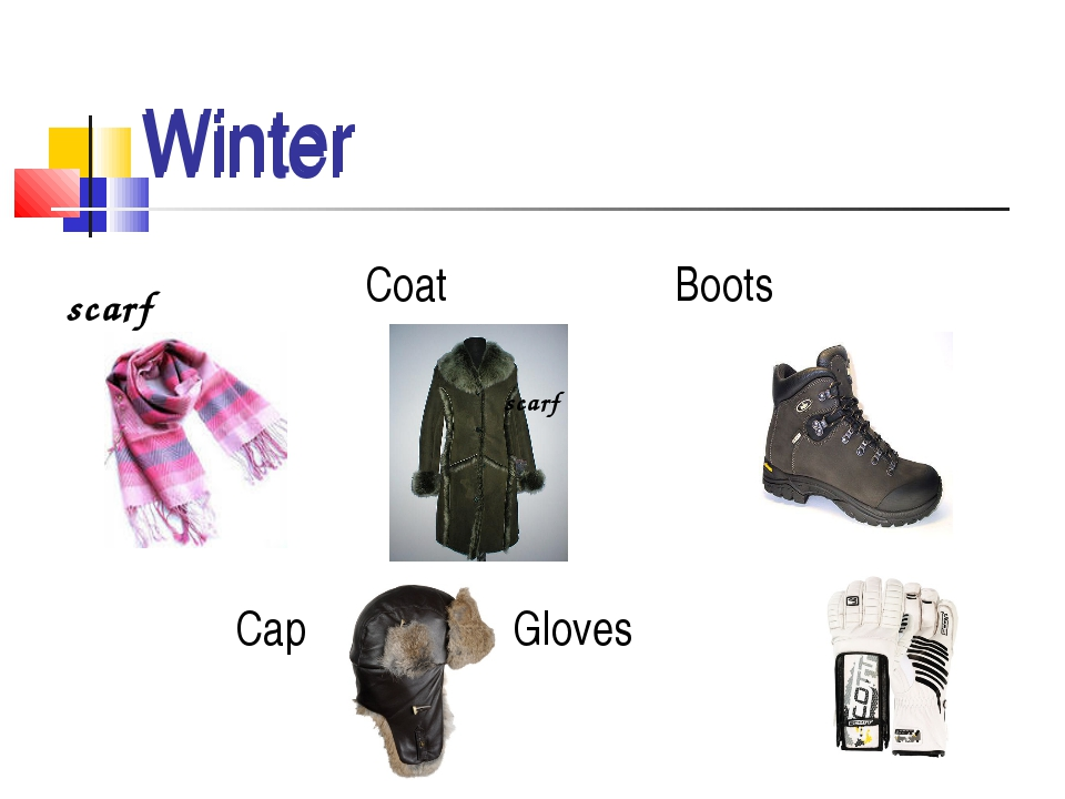 Coat Boots Cap Gloves Winter Winter scarf scarf
