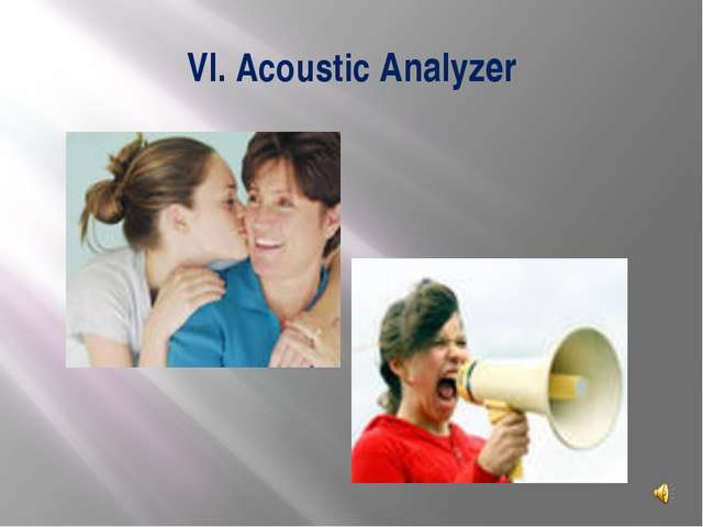VI. Acoustic Analyzer