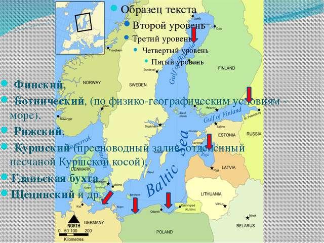 Заливы Финский, Ботнический, (по физико-географическим условиям - море), Р...