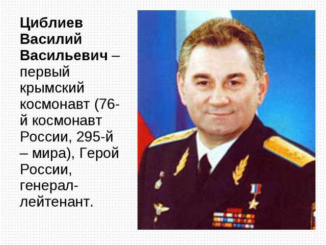 Циблиев Василий Васильевич – первый крымский космонавт (76-й космонавт России...