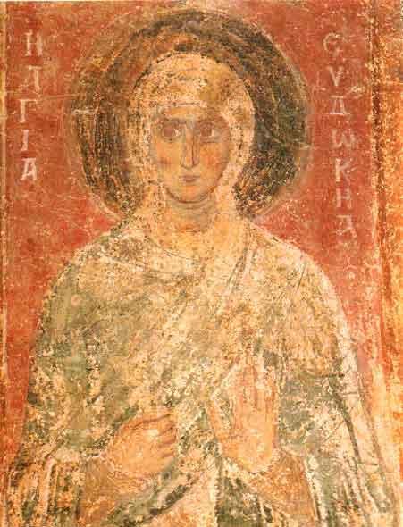 www.school.edu.ru :: Евдокия святая. Фреска Софийского собора в Киеве