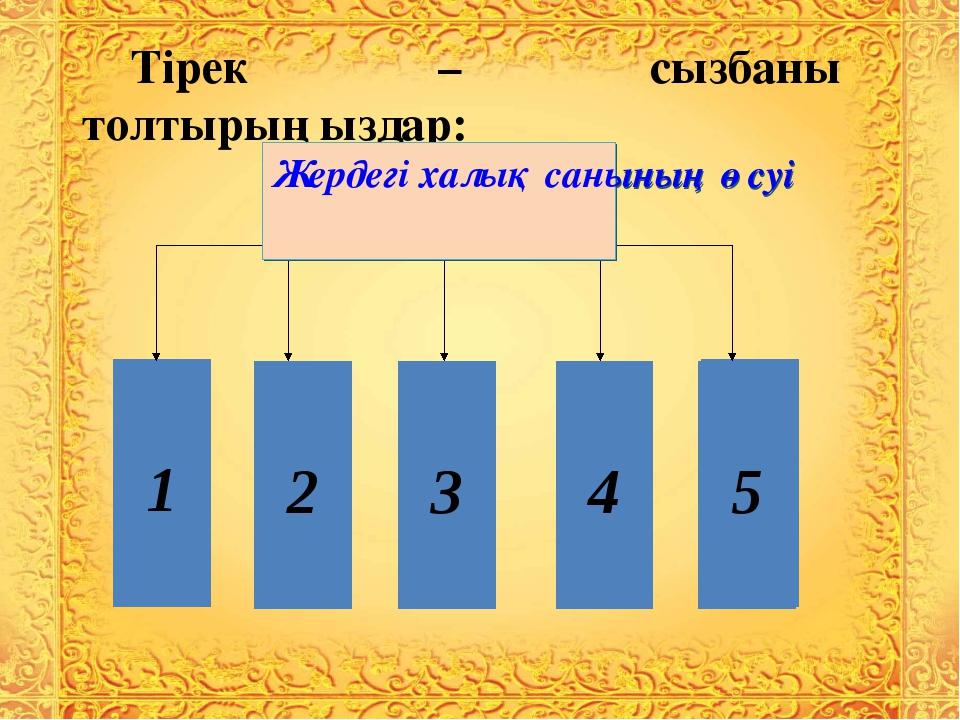 Тірек – сызбаны толтырыңыздар: 2 3 4 5