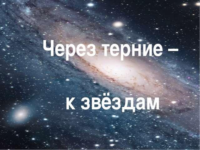 Через терние – к звёздам