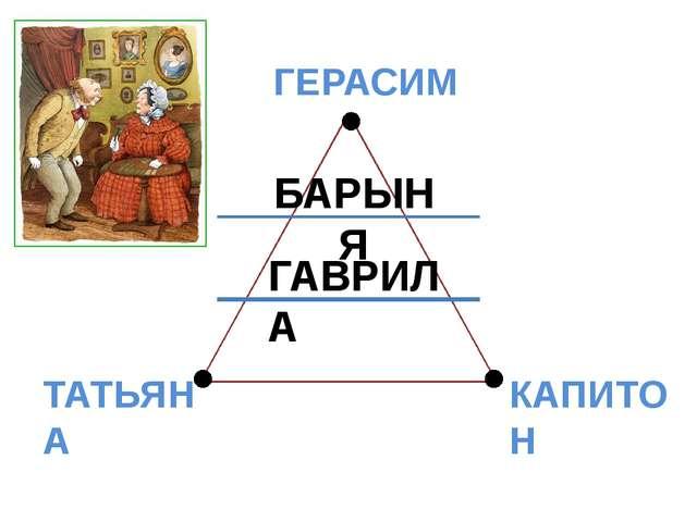 БАРЫНЯ ГАВРИЛА ГЕРАСИМ ТАТЬЯНА КАПИТОН