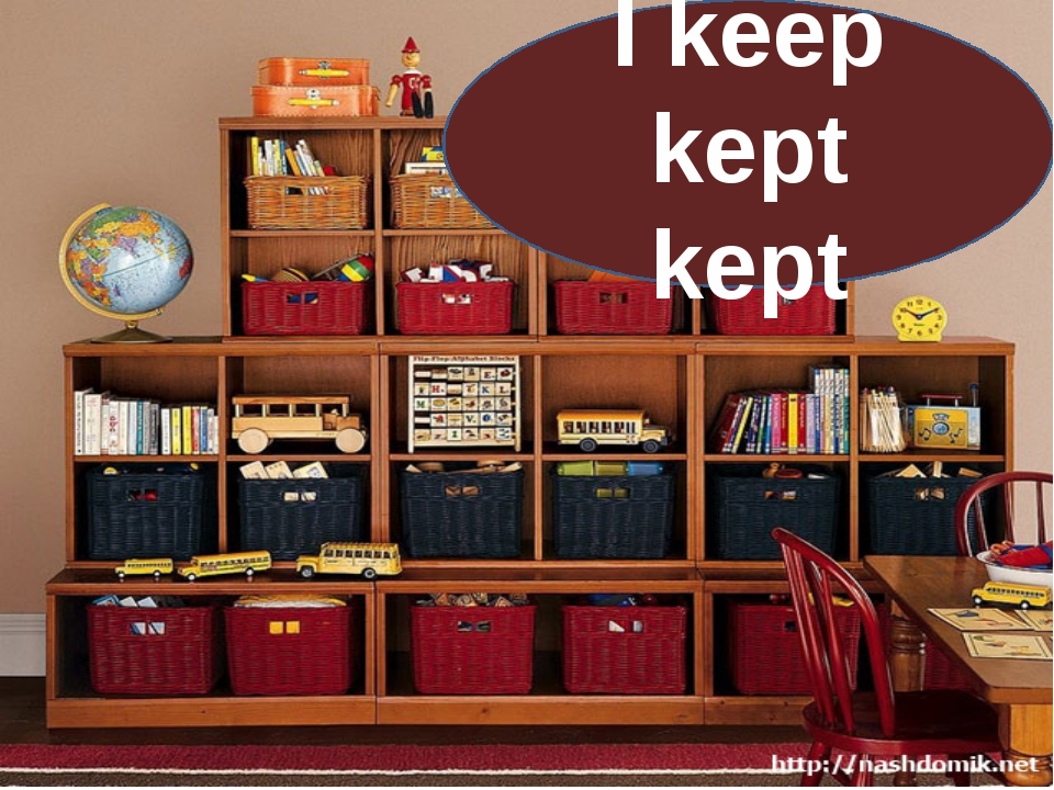 I keep kept kept