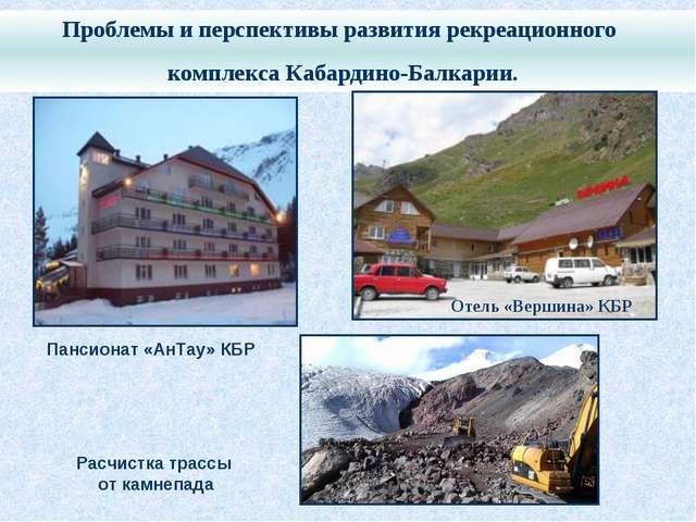 Проблемы и перспективы развития рекреационного комплекса Кабардино-Балкарии....